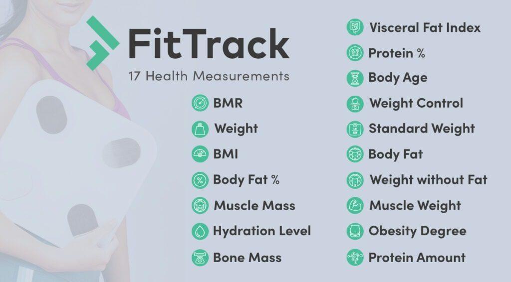 FitTrack scale measure