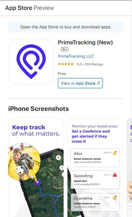 Prime Tracking ios App