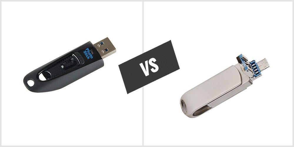 Différence entre Photo Stick et Flash Drive