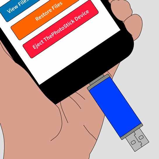 Technologische beschrijving van Photostick Mobile back-upapparaat.