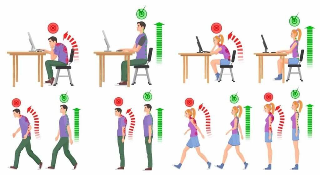 O que causa má postura?